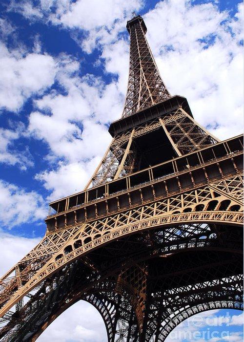 Eiffel Greeting Card featuring the photograph Eiffel Tower by Elena Elisseeva
