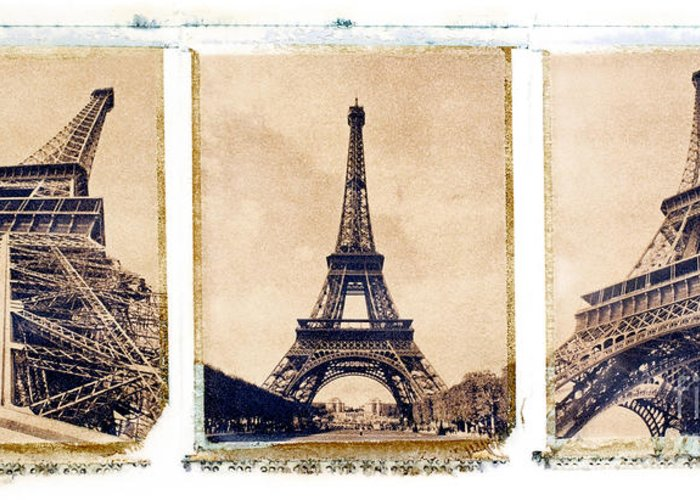 Eiffel. Tower Greeting Card featuring the photograph Eiffel Tower by Tony Cordoza