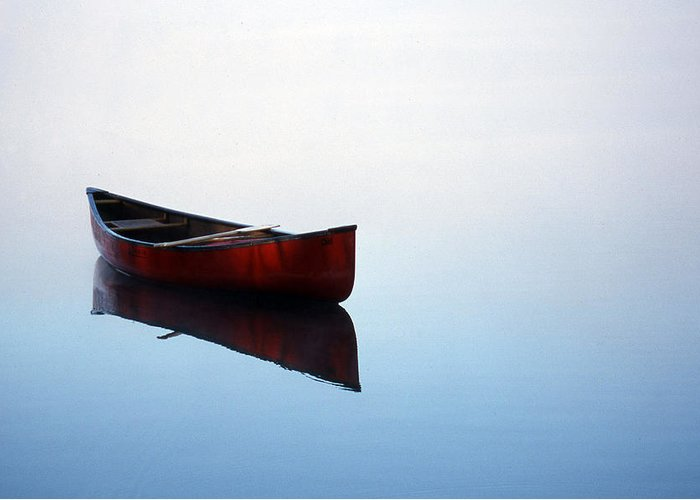 Canoe Greeting Card featuring the photograph Elizabeth's Canoe by Skip Willits