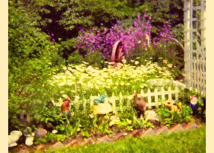 Landscape Greeting Card featuring the photograph Elna's Garden 2 by Donna Munro