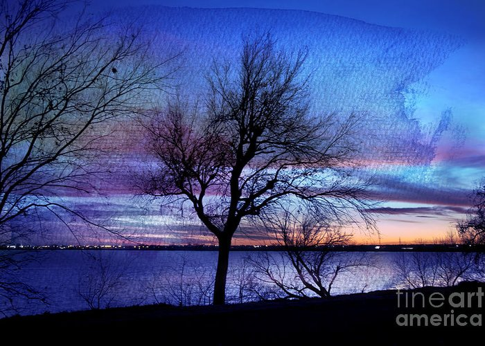 Landscape Greeting Card featuring the photograph End Of Day by Betty LaRue