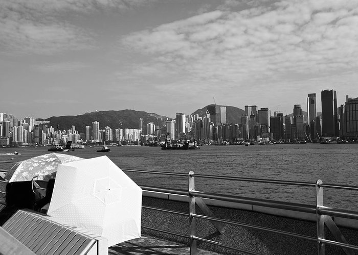 Hong Kong Greeting Card featuring the photograph Enjoying The Sun by Richard WAN