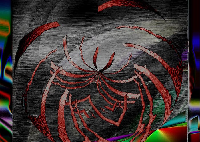 Abstract Greeting Card featuring the digital art Enveloped 10 by Tim Allen