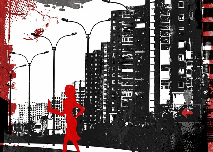 City Greeting Card featuring the digital art Equality by Angelina Vick