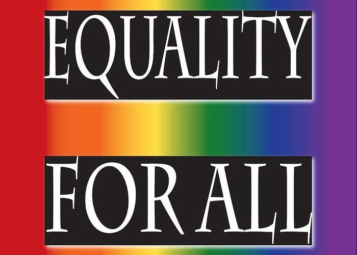 Jamie Lynn Gabrich Greeting Card featuring the digital art Equality Rainbow by Jamie Lynn