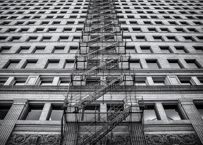 Fire Escape Greeting Card featuring the photograph Escape by Scott Norris