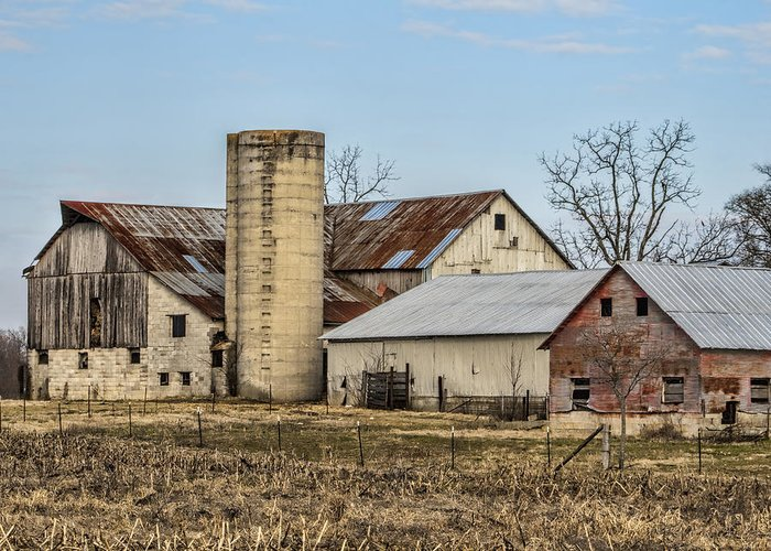 Amish Greeting Card featuring the photograph Ethridge Tennessee Amish Barn by Kathy Clark