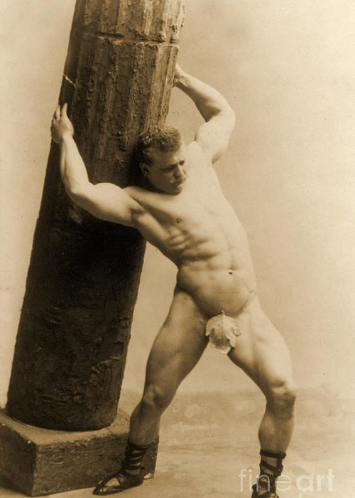 Circus Greeting Card featuring the photograph Eugen Sandow by American School