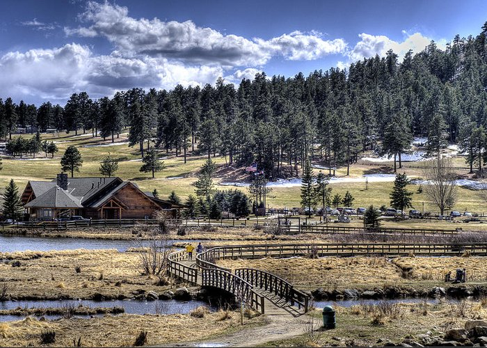 Evergreen Colorado Greeting Card featuring the photograph Evergreen Colorado Lakehouse by Ron White