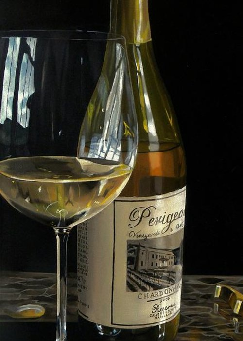 Wine Art Greeting Card featuring the painting Exquisite Taste by Brien Cole