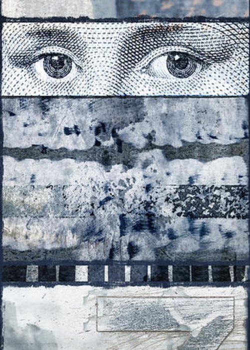 Collage Greeting Card featuring the photograph Eyes On Seven by Carol Leigh