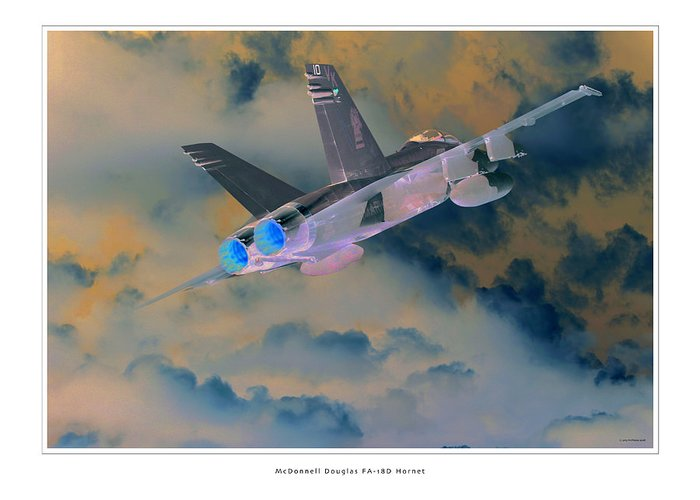 F-18 Hornet Framed Prints Greeting Card featuring the photograph Fa-18d Hornet by Larry McManus