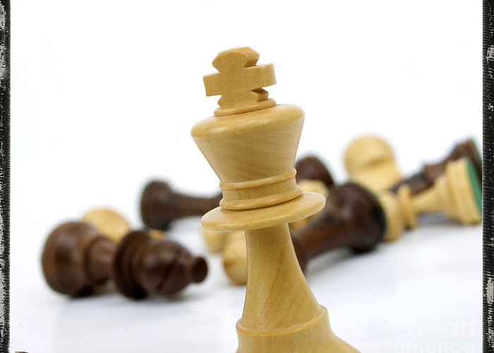 Chese Greeting Card featuring the photograph Falling Chess Piece by Bernard Jaubert