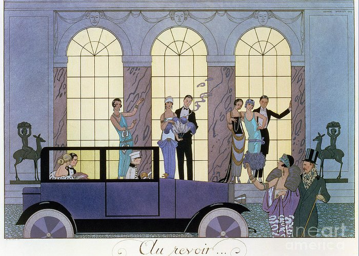 Print Greeting Card featuring the painting Farewell by Georges Barbier