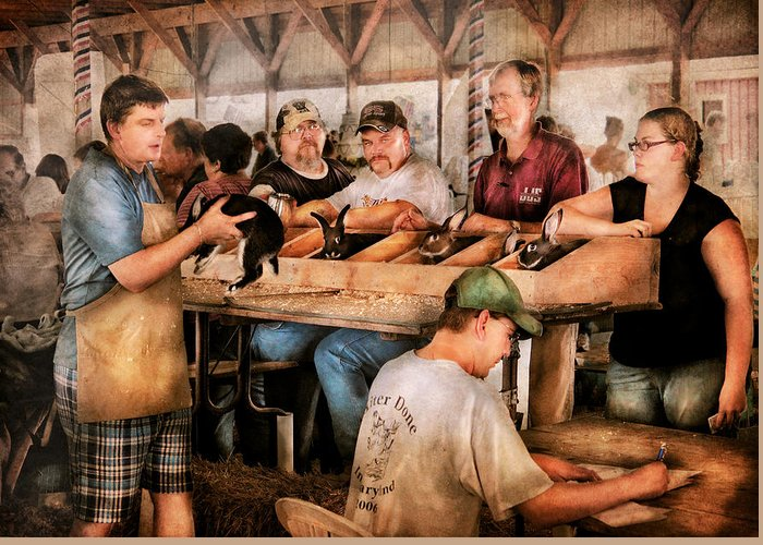 Savad Greeting Card featuring the photograph Farm - Farmer - By The Pound by Mike Savad