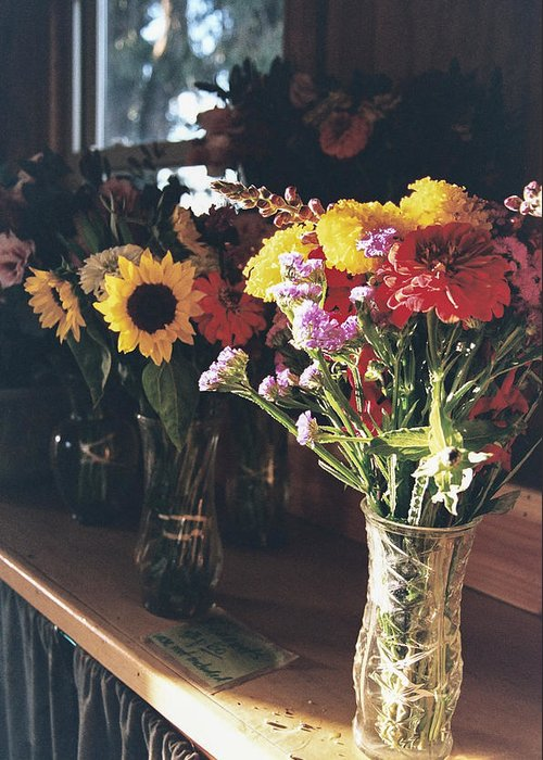 Bouquets Greeting Card featuring the photograph Farm Stand by Caitlyn Grasso