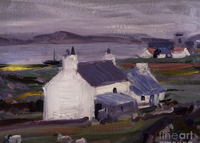 Cadell Greeting Card featuring the painting Farmsteading by Francis Campbell Boileau Cadell