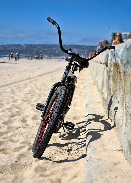 Beach Greeting Card featuring the photograph Fat Tire - Color by Peter Tellone