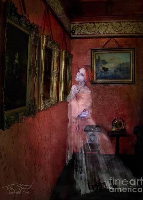Ghost Greeting Card featuring the photograph Favorite Painting by Tom Straub