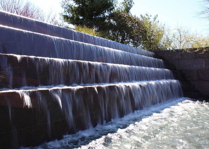 America Greeting Card featuring the photograph Fdr Memorial - Washington Dc - 01134 by DC Photographer