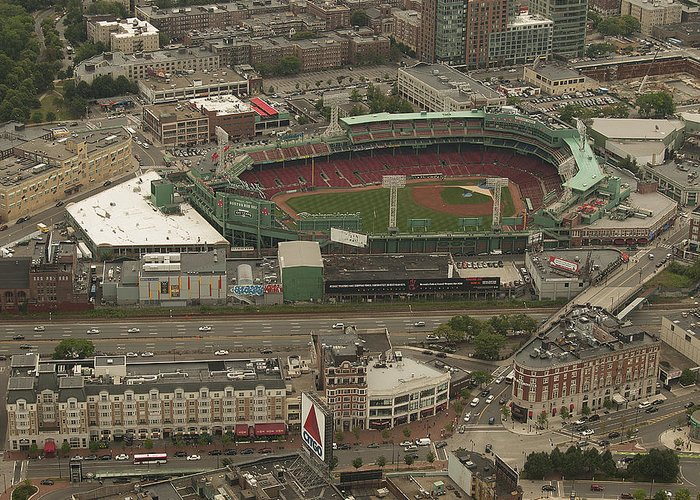 Fenway Park Greeting Card featuring the photograph Fenway by Joshua House