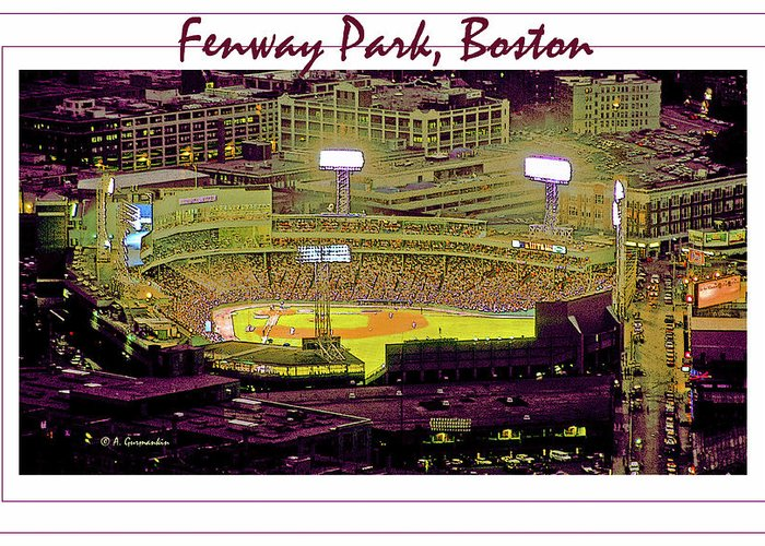 America's Pastime Greeting Card featuring the photograph Fenway Park Boston Massachusetts Digital Art by A Gurmankin