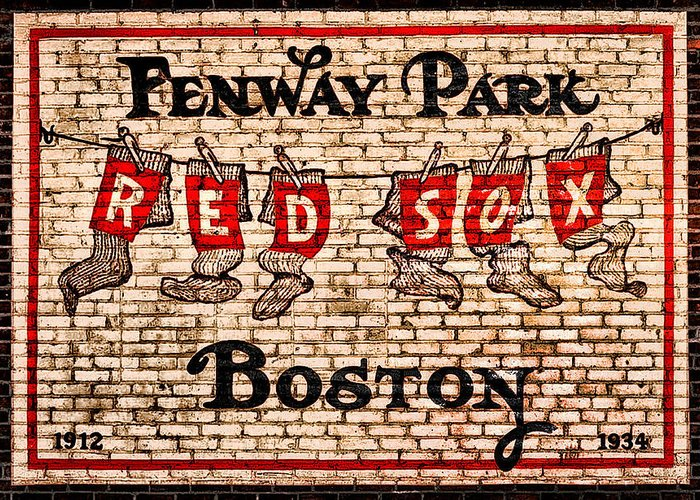 Fenway Park Boston Redsox Sign Greeting Card featuring the photograph Fenway Park Boston Redsox Sign by Bill Cannon