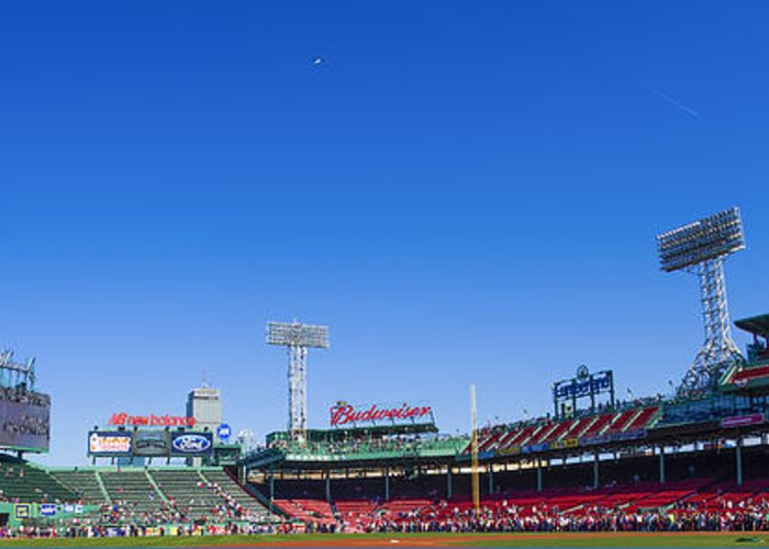 Fenway Greeting Card featuring the photograph Fenway Park- Home Of The Boston Red Sox by Diane Diederich