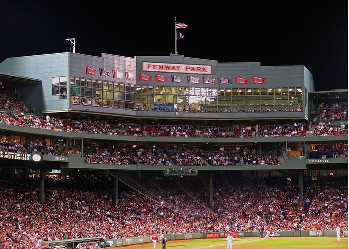 Boston Greeting Card featuring the photograph Fenway Park by Juergen Roth