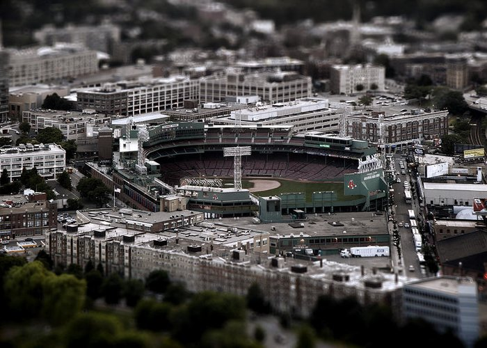 Baseball Greeting Card featuring the photograph Fenway Park by Tim Perry