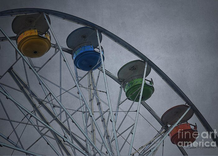 Texture Greeting Card featuring the photograph Ferris Wheel by Dave Gordon