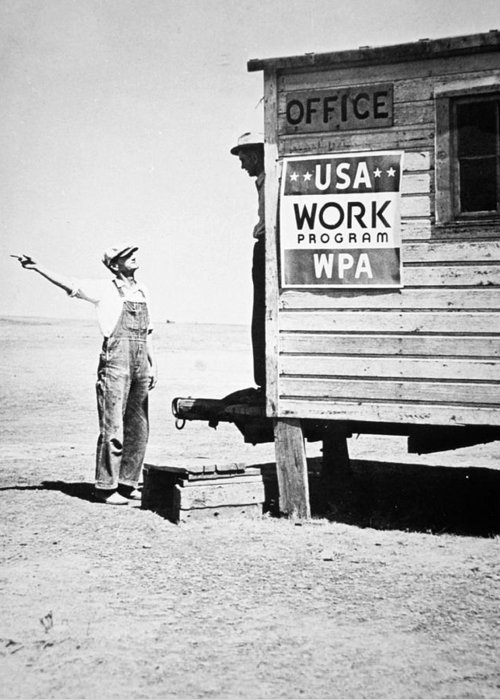 Financial Greeting Card featuring the photograph Field Office Of The Wpa Government Agency by American Photographer