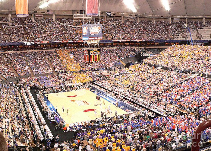 College Basketball Greeting Card featuring the photograph Final Four by David Bearden