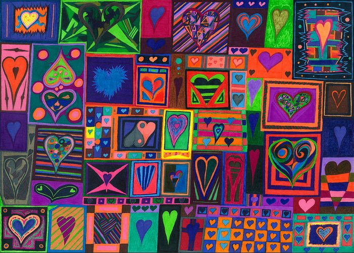 Find U'r Love Found Greeting Card featuring the drawing Find U'r Love Found by Kenneth James