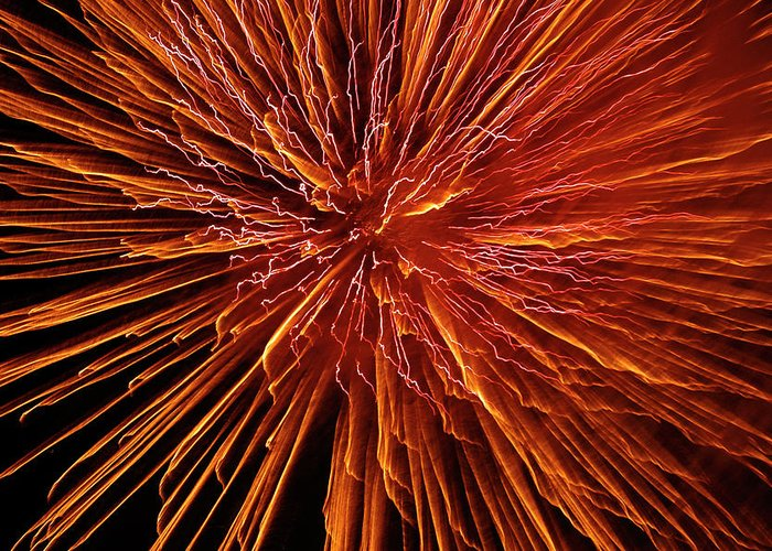 Fireworks Greeting Card featuring the photograph Fire In The Sky by Carolyn Marshall