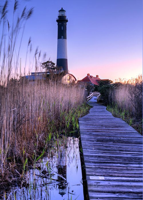 Fire Island Greeting Card featuring the photograph Fire Island Reflections by JC Findley