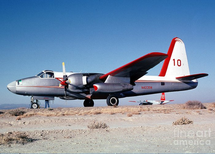 N4235n Greeting Card featuring the photograph Firefighting Airtanker N4235n by Wernher Krutein