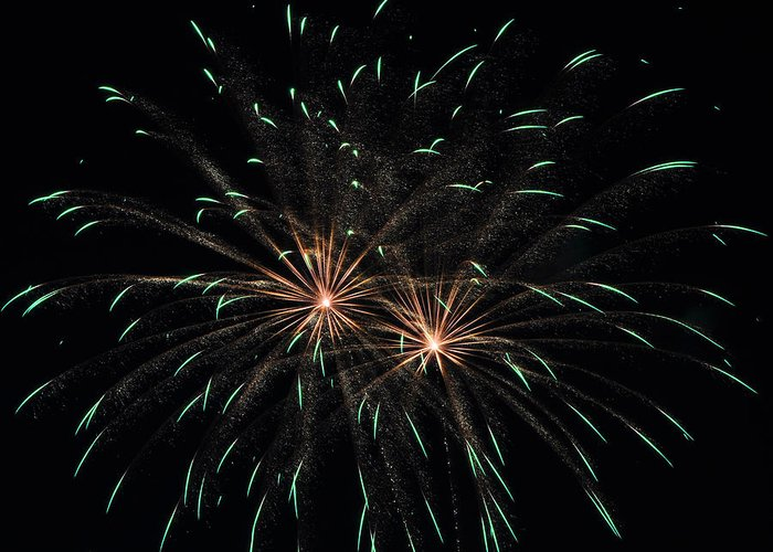 Fireworks Greeting Card featuring the photograph Fireworks 29 by Staci Bigelow
