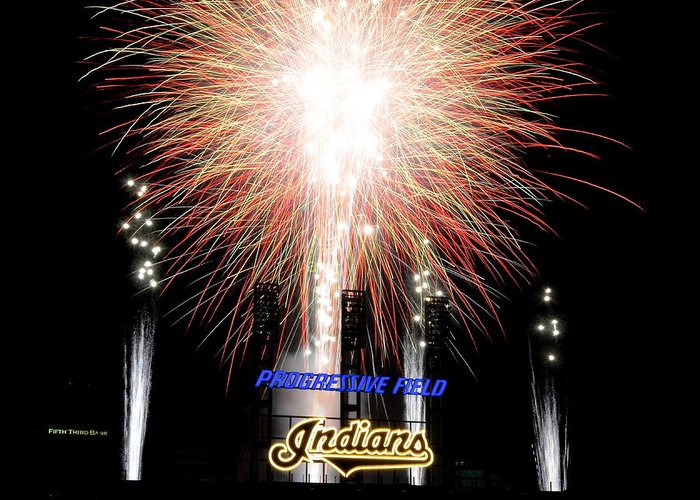 Fireworks Greeting Card featuring the photograph Fireworks Finale by Frozen in Time Fine Art Photography