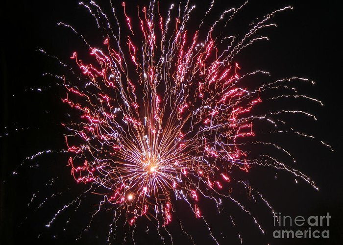 Fireworks Greeting Card featuring the photograph Fireworks For All by Terry Weaver