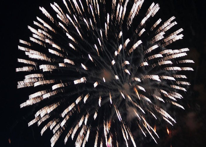 July Greeting Card featuring the photograph Fireworks Series X by Suzanne Gaff