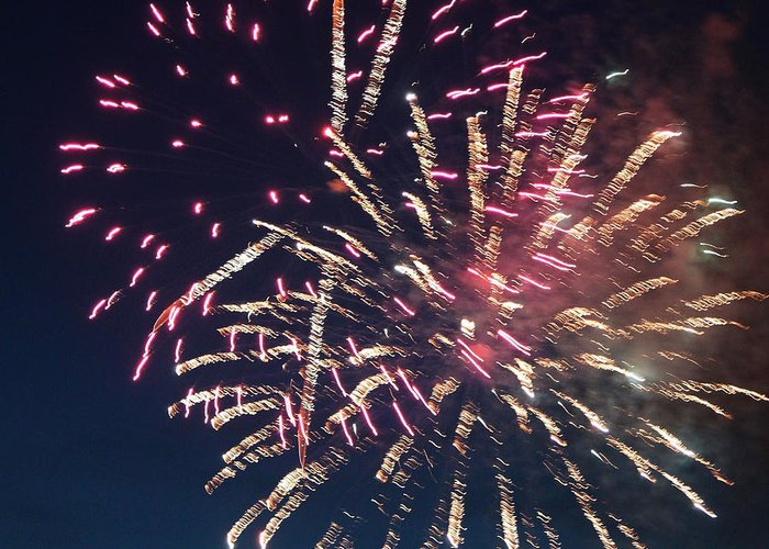 July Greeting Card featuring the photograph Fireworks Series Xiii by Suzanne Gaff