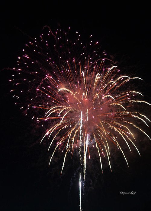 July Greeting Card featuring the photograph Fireworks Series Xiv by Suzanne Gaff