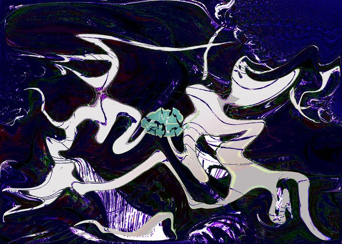 Grief Greeting Card featuring the digital art Firmament Cracked #11 Tapestry Of Pain by Mathilde Vhargon