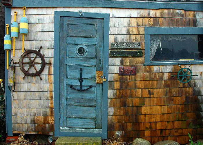 Rockport Greeting Card featuring the photograph Fishing Hut At Rockport Maritime by Jon Holiday