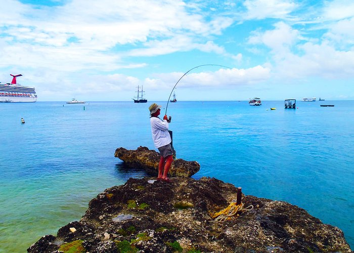 Fishing Greeting Card featuring the photograph Fishing Paradise by Carey Chen