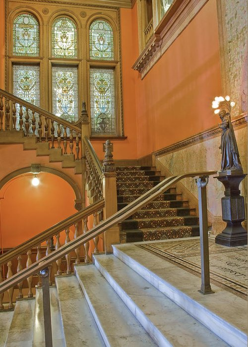 Stairs Greeting Card featuring the photograph Flagler College Entryway by Rich Franco