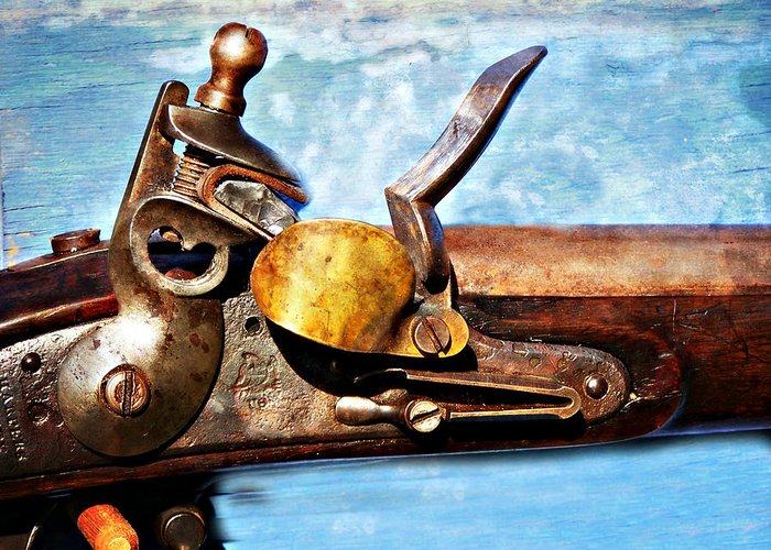 Flintlock Greeting Card featuring the photograph Flintlock by Marty Koch