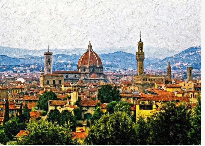 Florence Greeting Card featuring the photograph Florence Impasto by Steve Harrington