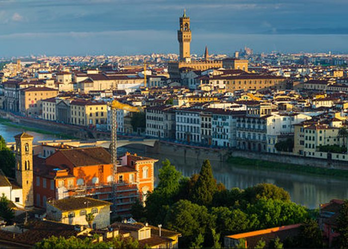 Arno Greeting Card featuring the photograph Florence Panorama by Inge Johnsson